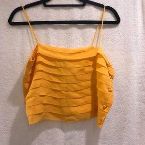 P.K. MUI Tops - P.K.MUI brilliant yellow SILK halter top